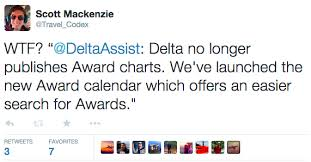 Delta Frequent Flyer Redemption Chart Deltas Missing Award Chart Is The Death Of Aspirational Travel