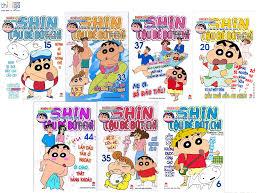 Sách - Combo Shin cậu bé bút chì (phiên bản hoạt hình màu) - 7 quyển - giao  ngẫu nhiên