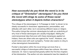 a passage to essay a passage to characters