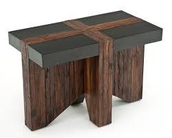elegant reclaimed wood end table refined rustic nightstand reclaimed wood end table remodel