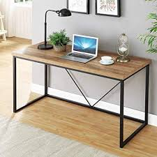 Wood and metal computer desk World Market Image Unavailable Newco Interiors Amazoncom Foluban Rustic Industrial Computer Deskwood And Metal