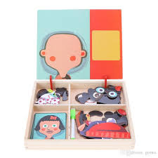 2019 baby wooden magnetic puzzle board toy kids dress up early educational jigsaw puzzles kids funny birthday gifts from gomo 11 25 dhgate com