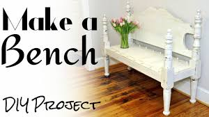 make a bench from a bed diy project