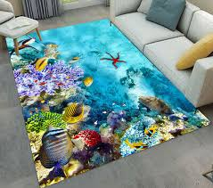 beautiful underwater world cs tropical fish area rugs living room floor mat