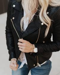 this is non negotiable las every woman needs a black leather jacket in her wardrobe mine go to is from the nordstrom n last year