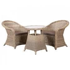 besp oak outdoor garden furniture rattan 2 seater bistro dining set