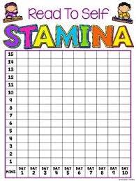 Reading Stamina Chart Free Reading Stamina Chart Reading