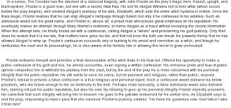 abigail williams essay how does the character and language of abigail williams contribute to