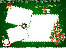 Christmas Card Collage Templates Birthday Card Template Templates For Free Christmas Picture With