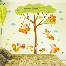 squirrel house wall decal sticker