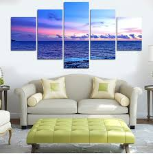 Small Picture 5PCS Deep Blue Ocean Home Decor Canvas Wall Art Decor Painting