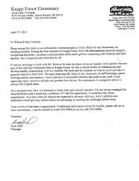 Ideas Sample Letter Of Recommendation For Principal Letters School