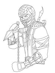 Small Picture Scorpion From Mortal Kombat Coloring Page Fun Coloring Pages