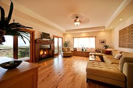 cool living room design with delectable wood flooring