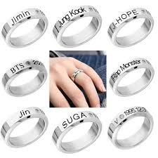 Vogue Men <b>Titanium Steel</b> Crystal Stone Letters Carving Finger ...