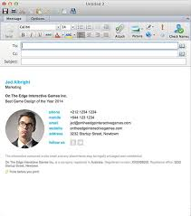 Outlook Mac Email Template Email Signatures For Outlook Mac 2016
