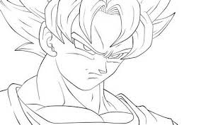 Small Picture Coloring Pages Goku Colouring Pages 9 Goku Super Saiyan