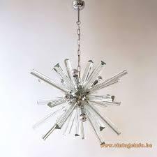 trihedral crystal glass sputnik chandelier
