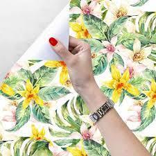 GLOW4U Self Adhesive Tropical Floral ...