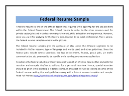 federal federal resume template