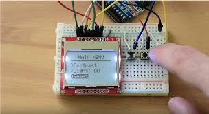 Menu on Nokia 5110 LCD display with ...