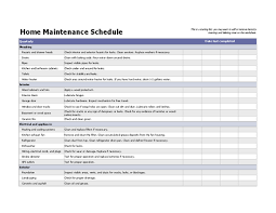 Home Maintenance Tracker 70 Free Schedule Planner Templates Word Excel