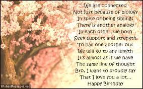 Birthday Poems for Brother – WishesMessages.com via Relatably.com