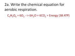 write the chemical equation for aerobic respiration
