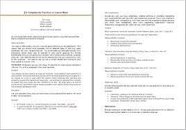 Casual Resume Example cv template part time job Delliberiberico 54