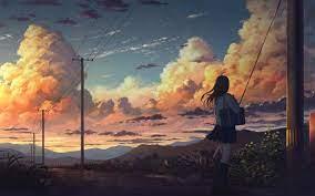 Anime Girl Landscape (Page 4) - Line ...