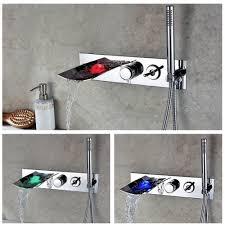 led bathroom bathtub faucet led