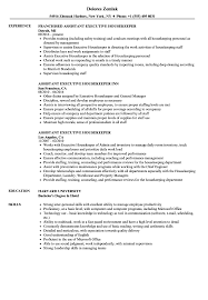 Executive Housekeeper Resume Assistant Executive Housekeeper Resume Samples Velvet Jobs 12