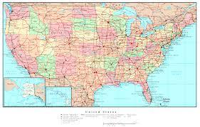 map of us states road atlas