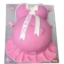 Tarau0027s Cupcakes Pregnant Belly Baby Shower Cake  GirlBelly Cake For Baby Shower