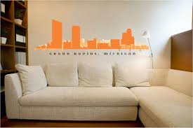 Peel And Stick Wall Decor Grand Rapids Michigan Skyline Wall Decal Art Vinyl Removable