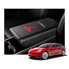 R RUIYA Tesla Model 3 <b>Car Accessory</b> Leather <b>Armrest</b> Box…
