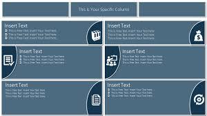 Presentation Design Templates Flat Tabular Matrix Powerpoint Template