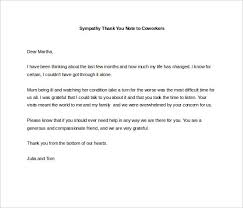 Thank You Note Examples 4 Sympathy Thank You Notes Free Sample Example Format Download