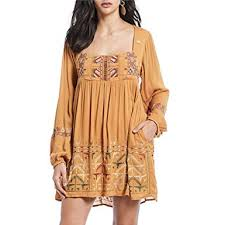 Free People Womens Rhiannon Embroidered Mini At Amazon