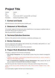 Project Management Proposal Template Free Sample Display Desk