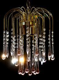 Details Zu Leuchter Lampe Murano Glas Wasserfall Tropfen Luster