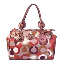 Sale Coach In Signature Large Pink Satchels BBA