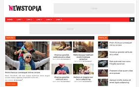 Newspaper Html Template 150 Free Responsive Magazine Style Blogger Templates 2019