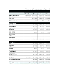 Projected Income Statement Template And Balance Sheet Excel
