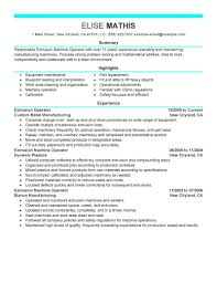 Heavy Equipment Operator Resume Summary Functional Examples For