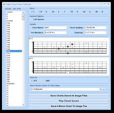 Chord Chart Builder Download Guitar Chord Chart Software 7 0
