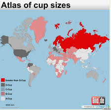 Atlas Of Cup Sizes World Map Female Cup