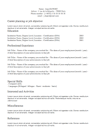 Classic Resume Template Best of Free Classic Resume Template Fastlunchrockco