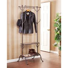 Harper Blvd Ashbury Entryway Shelf/ Hall Coat Rack Tree - Free Shipping  Today - Overstock.com - 15717536