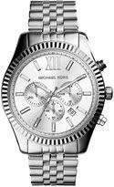 michael kors men s chronograph watch shopstyle michael kors men s chronograph lexington stainless steel bracelet watch 45mm mk8405